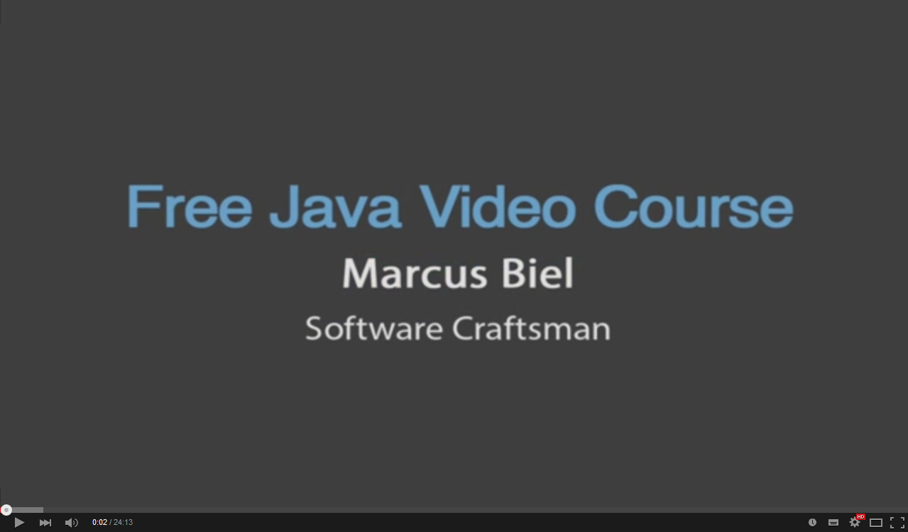 Free Java Video Course 7