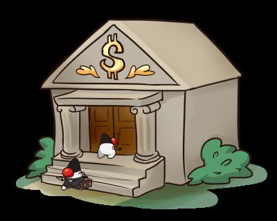 Java Duke goes to a bank