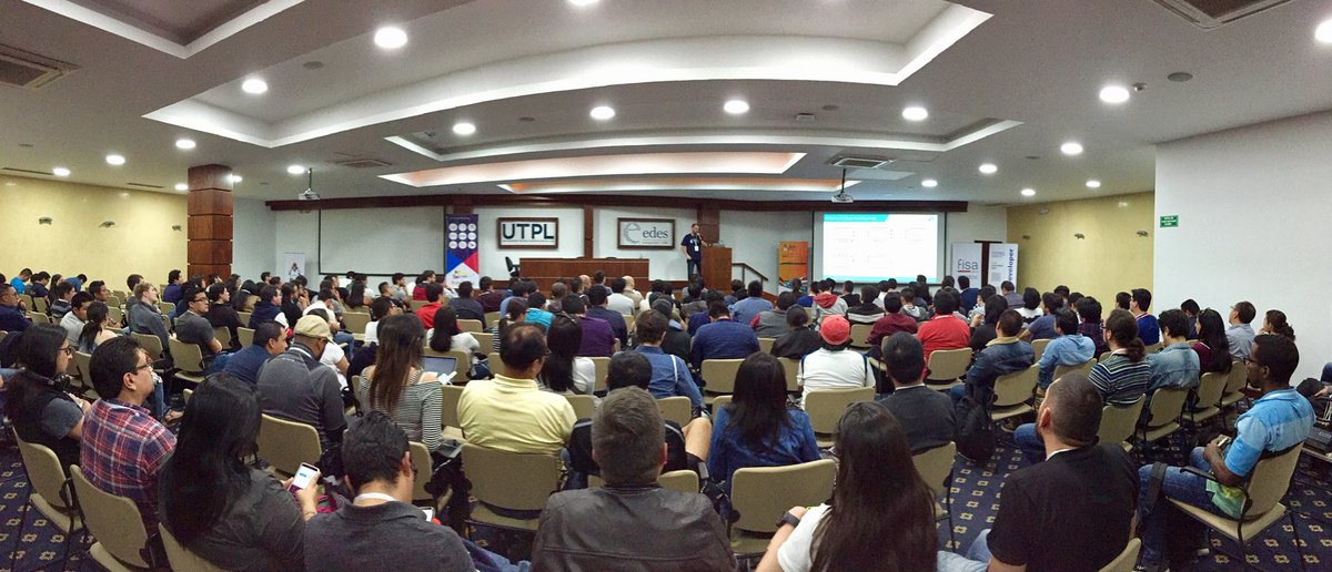 Marcus Biel talks at Java Day Ecuador